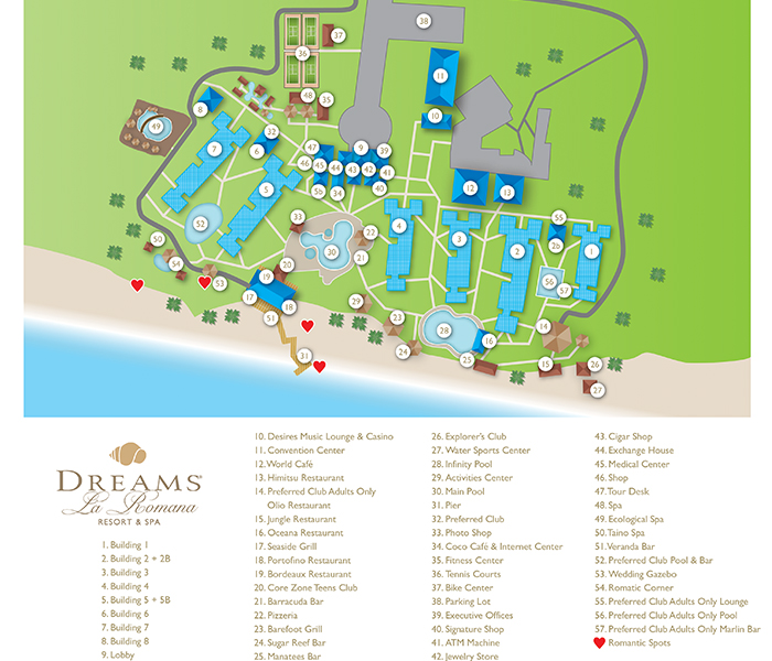 Caribbean Beach Resort Map Preferred Rooms Disney S