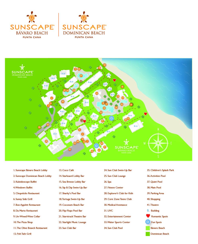 Beach Punta Cana Bavaro Resort Map Unlimited Vacation Club