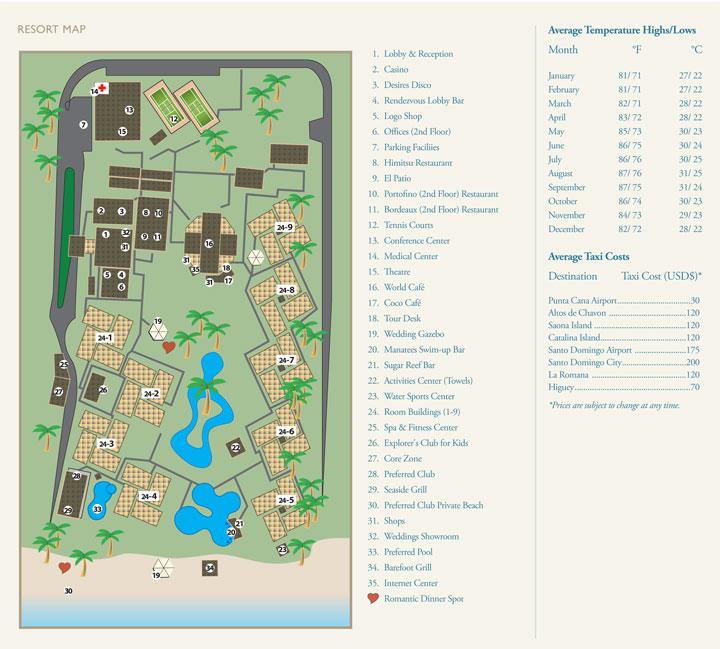 Dreams Palm Beach Punta Cana Resort Map