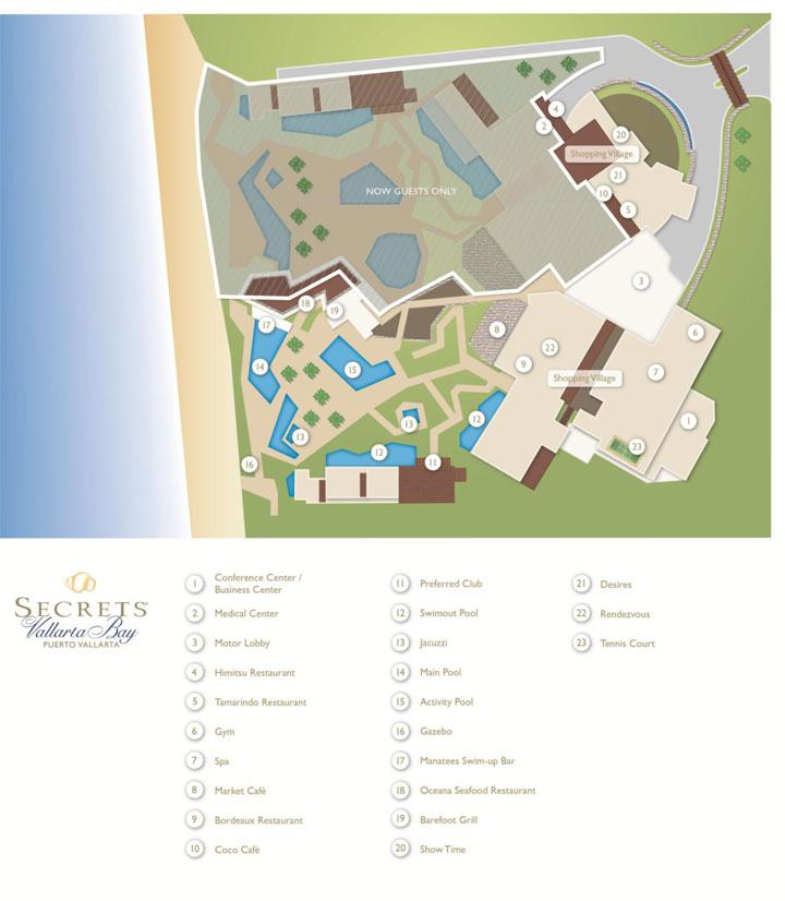Secrets Vallarta Bay Room Service Menu